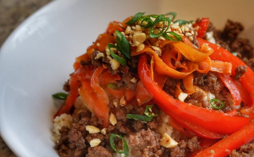 Sweet and Spicy Beef Bowls