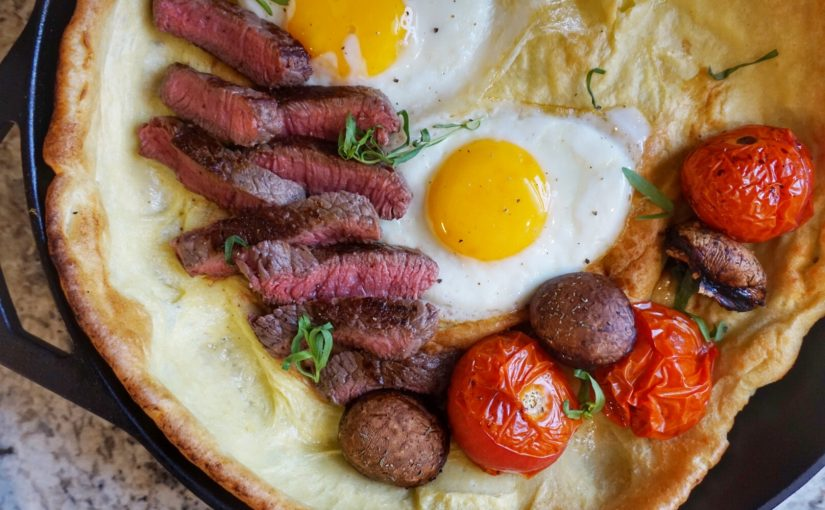 Steak and Egg Dutch Baby