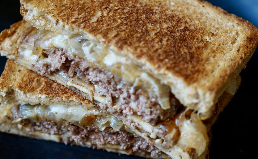 Mighty Mushroom Patty Melt